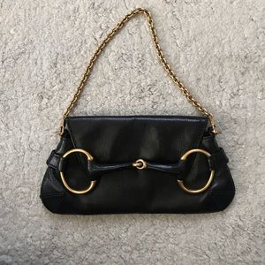 Gucci Tom Ford leather and rose gold horsebit bag